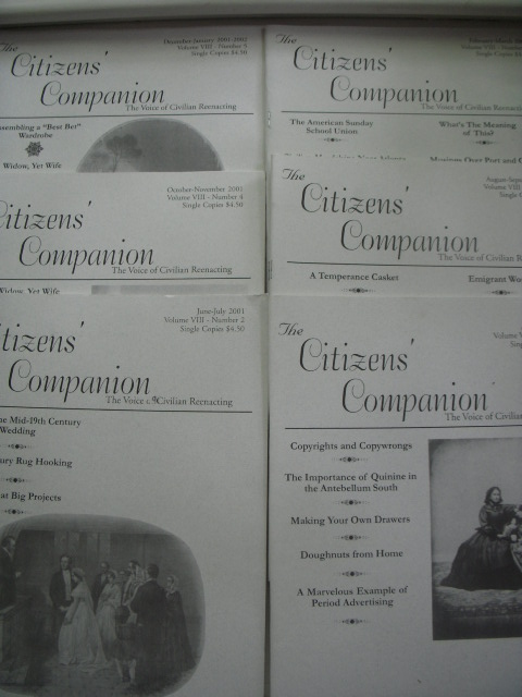 Image for The Citizen's Companion ; The Voice of Civilian Reenacting  (Volume VIII -- Full Run, Six issues)