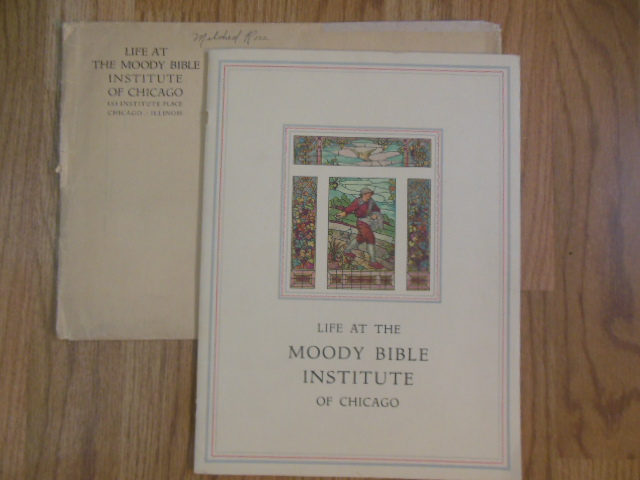 Image for Life at the Moody Bible Institute of Chicago; College Catalog 1930 in Original Envelope