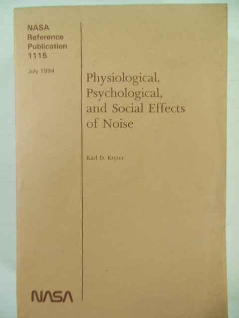 Image for Physiological, Psychological, and Social Effects of Noise