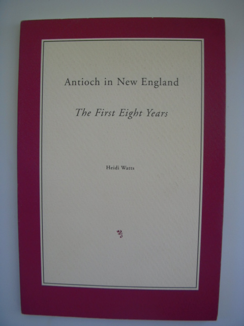 Image for Antioch in New England; the First Eight Years
