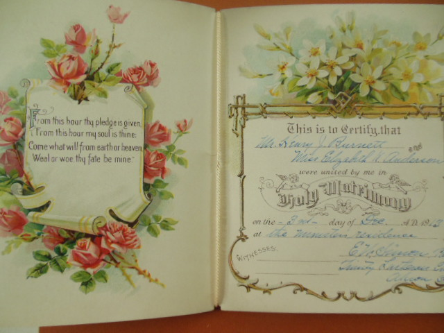 Image for Marriage Certificate Booklet Trinity Lutheran Church, Akron, Ohio