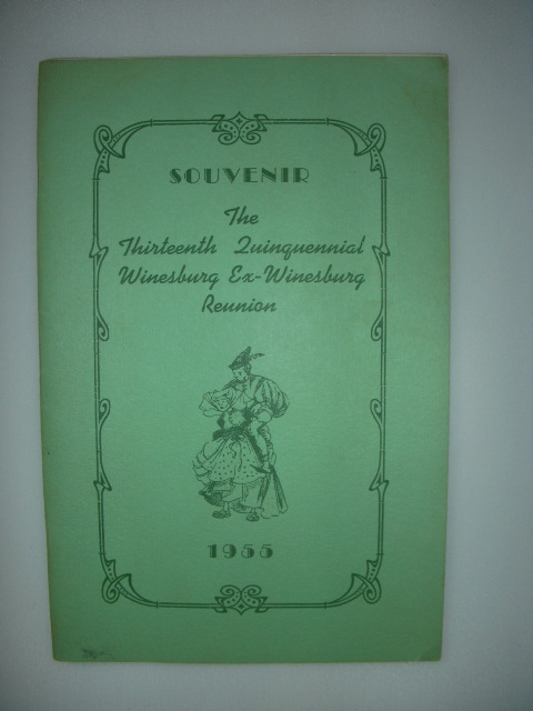 Image for Souvenir The Thirteenth Quinquennial Winesburg Ex-Winesburg Reunion 1955  (Winesburg, Ohio)