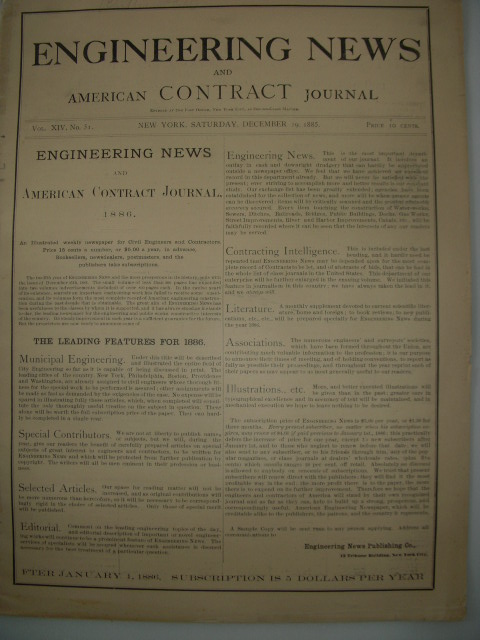 Image for Engineering News and American Contract Journal Vol. XVII April 23, 1887