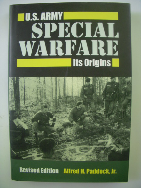 Image for U.S. Army Special Warfare: Its Origins