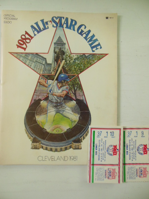 Image for Official Program 1981 All-Star Game, Cleveland  American League Vs. National League  (2  Ticket Stubs laid-in)