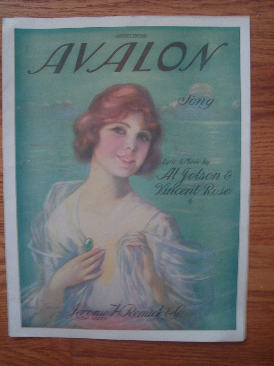Image for Avalon Fox Trot Song (Sheet Music Frederick Manning Art)