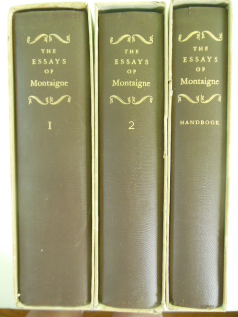 Image for The Essays of Marcel Montaigne (Three Volumes in Slipcases Plus SANDGLASS)