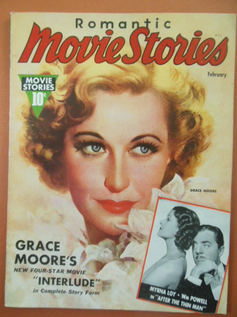 Image for Romantic Movie Stories Magazine Februrary , 1937  (Grace Moore, Myrna Loy, William Powell cover)