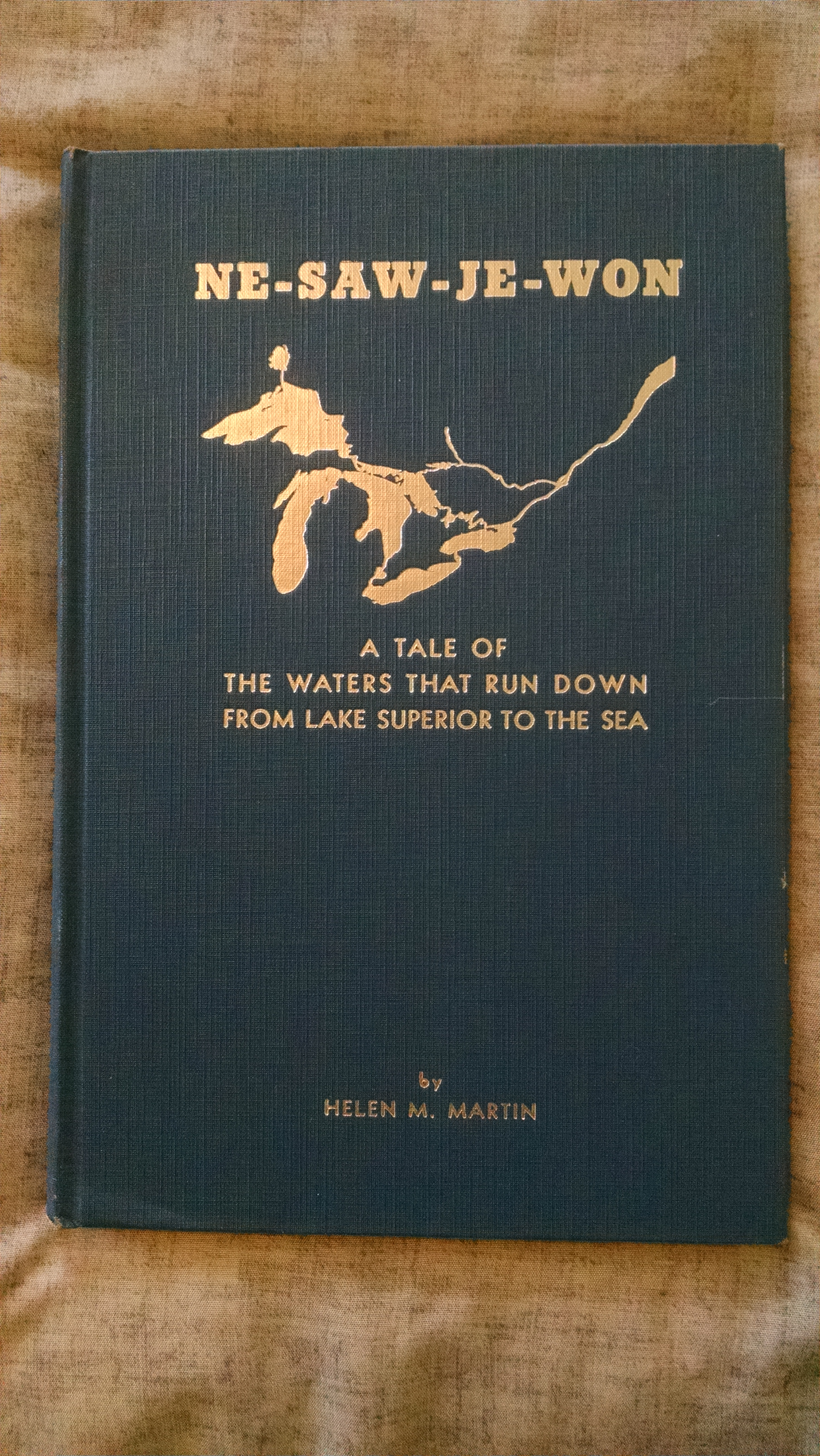 Image for Ne-Saw-Je-Won; A Tale of the Waters That Run Down from Lake Superior to the Sea  (Presentation copy)