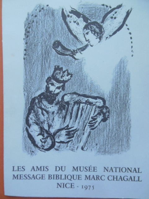 Image for Les Amis Du Musee National Massage Biblique Marc Chagall Nice 1975