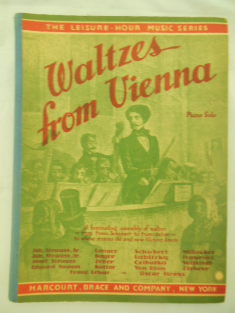 Image for Waltzes from Vienna Piano Solo (The Leisure Hour Music Series)