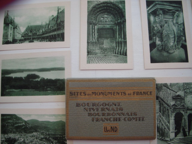 Image for Sites Et Monuments De France; Bourgogne, Nivernais, Bourbonnais, Franche-Comte  (20 Vintage Postcards, Original Box)