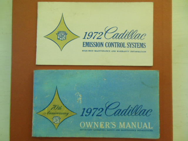 Image for 1972 Cadillac Owner's Manual; 1972 Cadillac Emissions Control Systems  (In Original Plastic Holder)