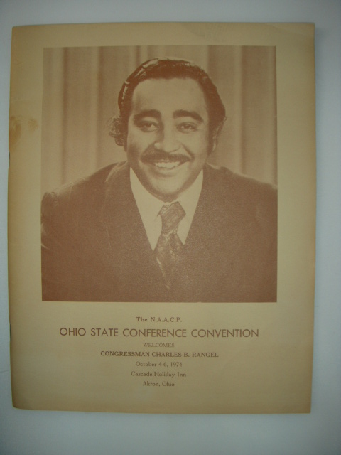Image for The NAACP  Ohio State Conference Convention 1974 Akron, Ohio Program (Charles Rangel cover)