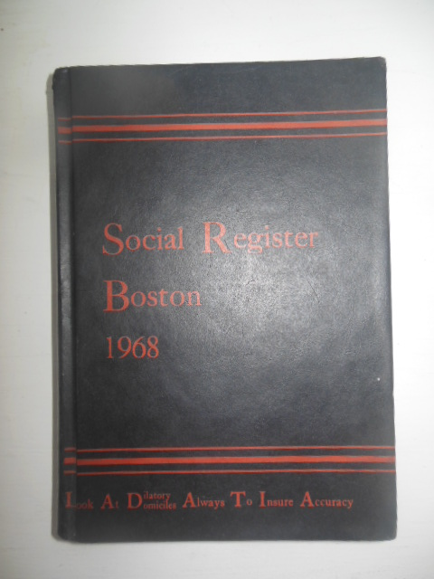 Image for Social Register Boston 1968