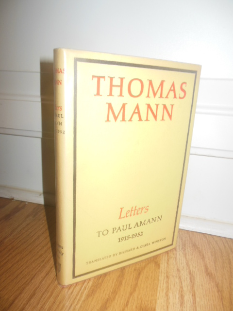 Image for Thomas Mann: Letters To Paul Amann 1915-1952