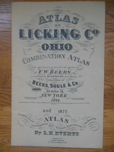 Image for Atlas of Licking County, Ohio Combination Atlas From Actual Surveys 1866 & 1875 (Reprinted 1971)
