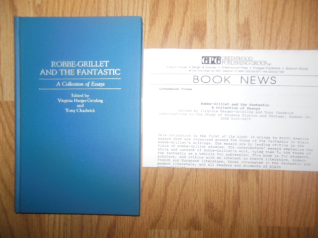 Image for Robbe-Grillet and the Fantastic: A Collection of Essays (Contributions to the Study of Science Fiction & Fantasy)