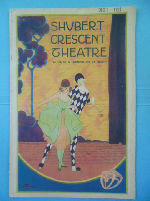Image for Shubert Crescent Theatre Program Brookyln, New York (1921)