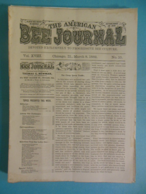 Image for The American Bee Journal (10 Issues 1882-1884)