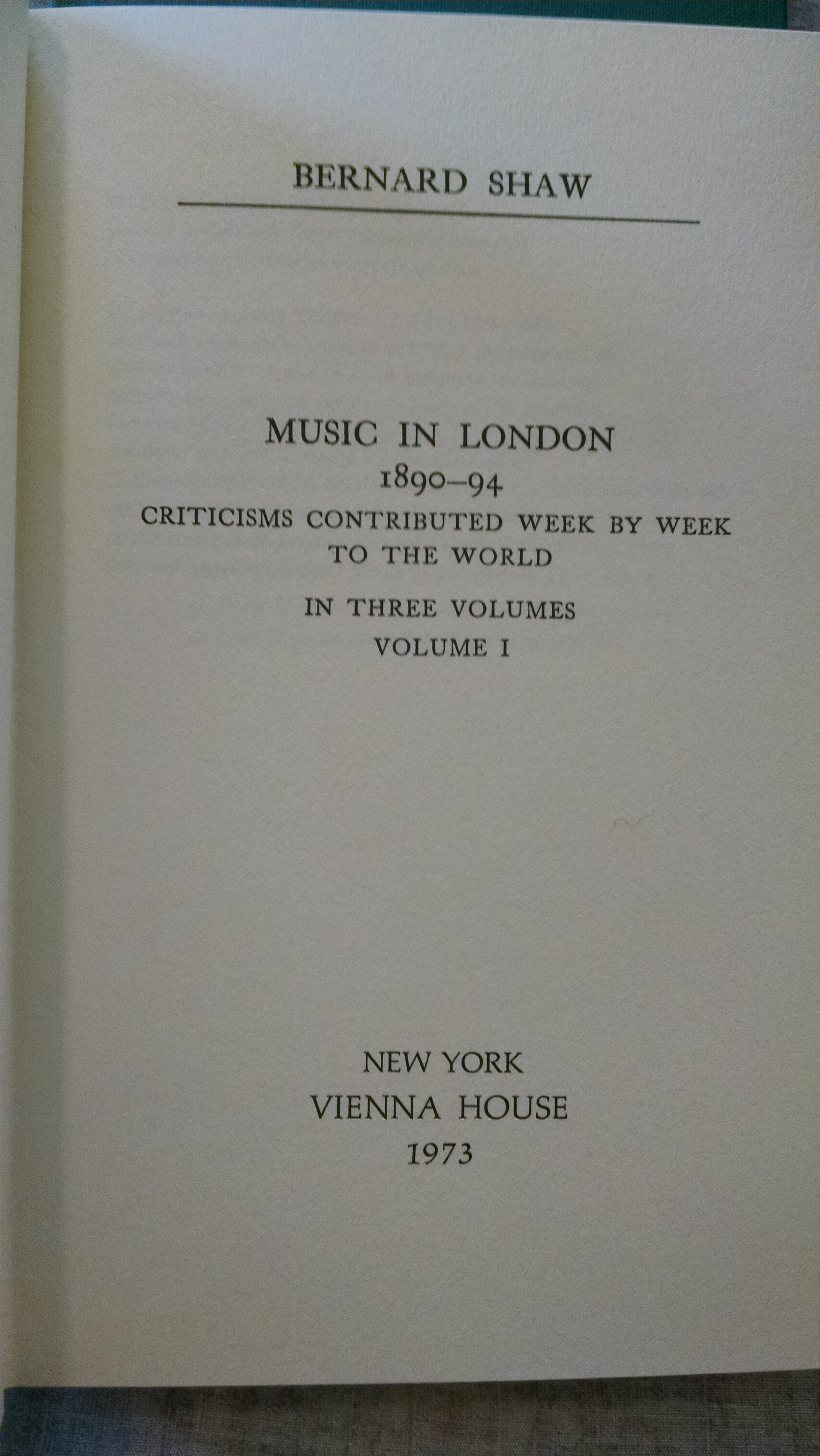 Image for Music In London; The Four-Volume Set, 1888-1894