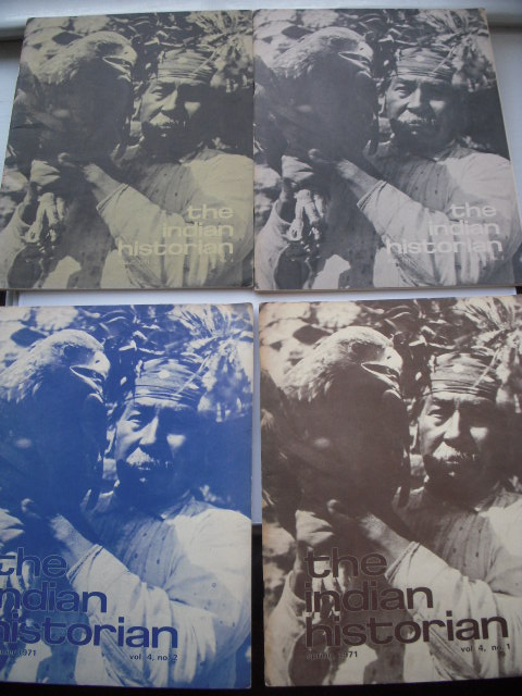 Image for The Indian Historian Magazine Full Run 4 Issues, 1971