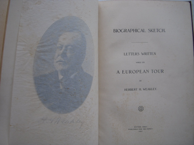Image for Biographical Sketch; Letters Written While On A European Tour
