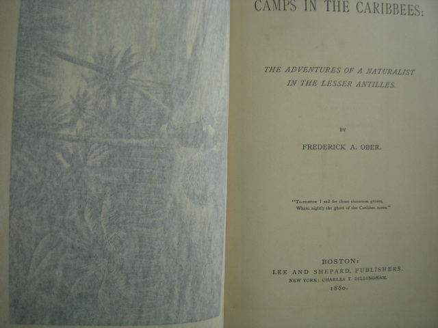 Image for Camps in the Caribees; The Adventures of a Naturalist in the Lesser Antilles