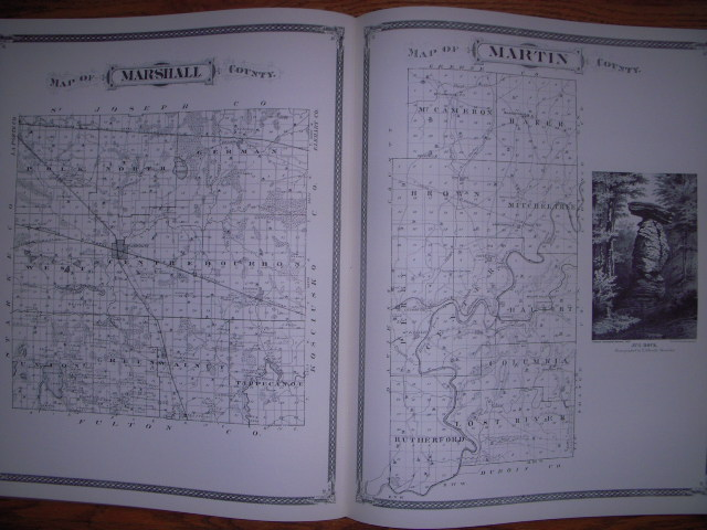 Image for Maps of Indiana Counties in 1876 with the Plat of Indianapolis and a Sampling of Illustrations