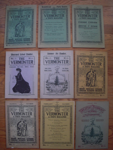Image for The Vermonter Magazine 1904 (Nine Issues)