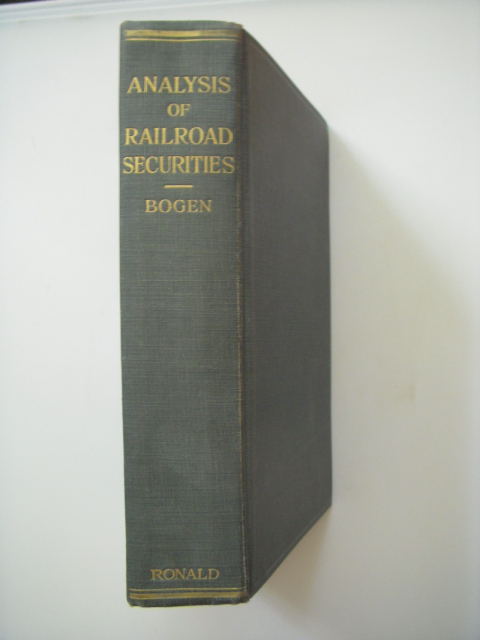 Image for Analysis of Railroad Securities; A Guide to the Determination of Investment Values