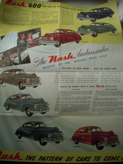 Image for You'll Be Ahead with Nash 1946 Nash Brochure
