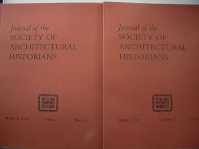 Image for Journal of the Society of Architectural Historians  1991 (Two Issues,