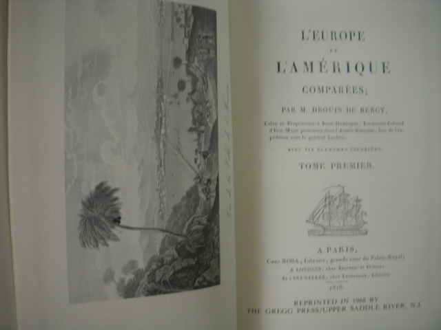 Image for L'Europe et L'Amerique Comparees; Tome Premier