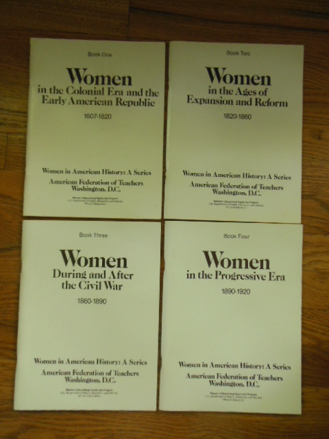 Image for Women In American History; A Series (Four Volume Set