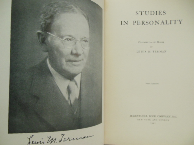 Image for Studies in Personality Contributed in Honor of Lewis  M. Terman
