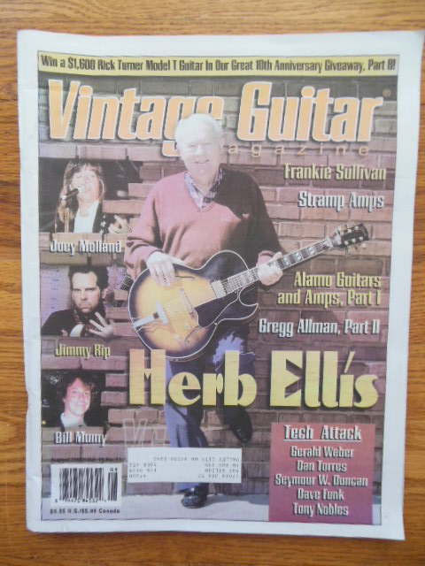 Image for Vintage Guitar Magazine August 1996