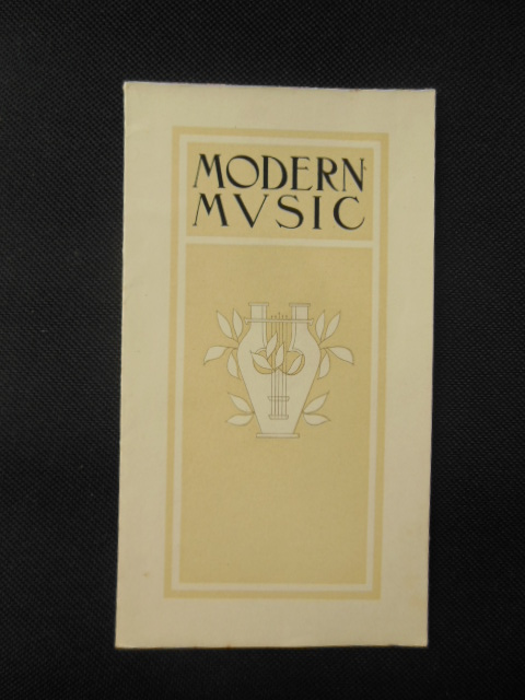 Image for Modern Music; The Wirsching Organ Company Brochure