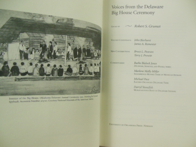 Image for Voices From the Delaware Big House Ceremony