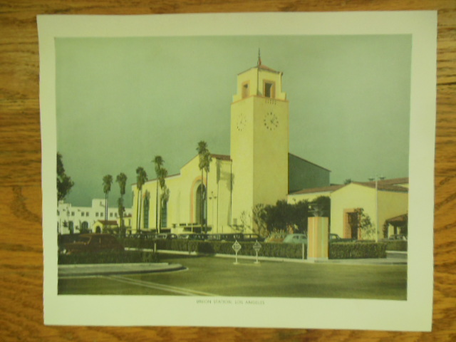 Image for Union Station Los Angeles Color Print (1943)