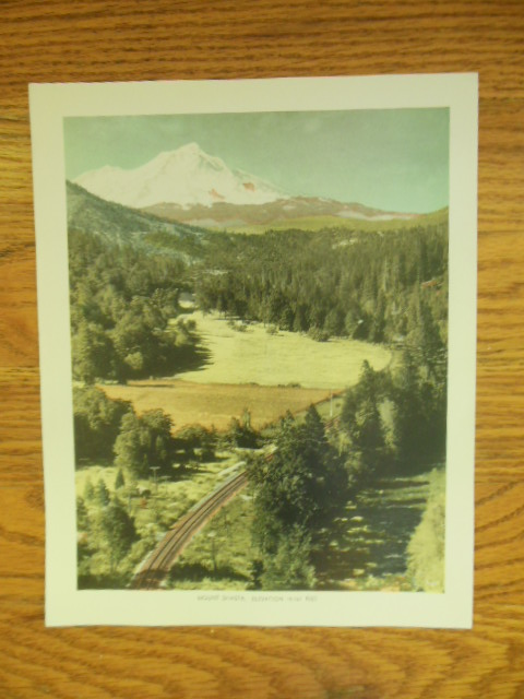 Image for Mount Shasta Elevation 14,161 Feet  Color Print  (1943