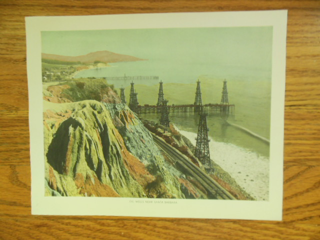 Image for Oil Wells Near Santa Barbara Color Print  (1943)