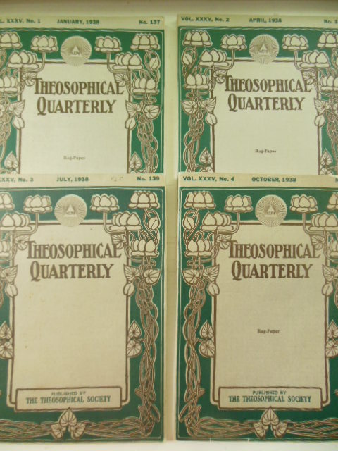 Image for The Theosophical Quarterly Volume XXXV, Nos. 137,138,139,140  Full Run 1937-38)