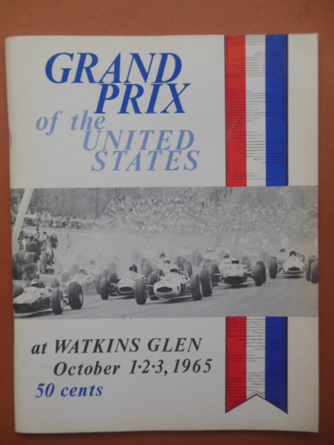 Image for Grand Prix of the United States at Watkins Glen October 1,2,3, 1965  Program