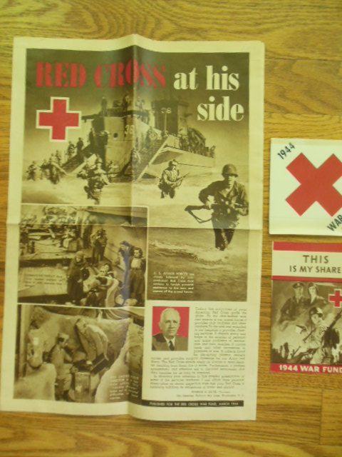 Image for Red Cross War Fund WWII Ephemera 1944 ;  Red Cross At His Side, This is My Share