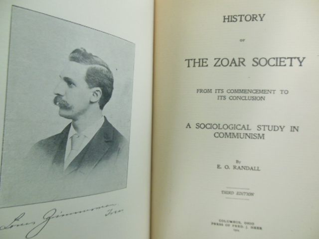 Image for The Zoar Society From Its Commencement to Its Conclusion; a Sociological Study in Communism