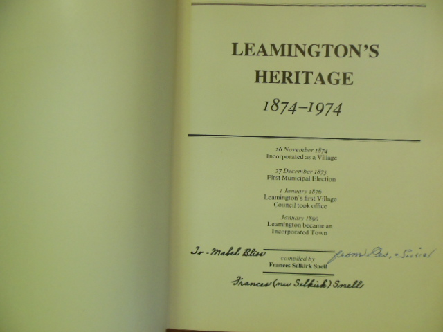 Image for Leamington's Heritage 1874-1974 (SIGNED)