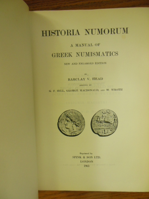 Image for Historia Numorum A Manual of Greek Numismatics  (New and Enlarged Edition)