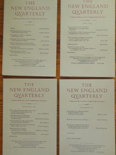 Image for The New England Quarterly (Full Run, Four Issues)