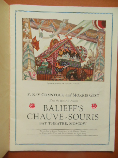 Image for Balieff's Chauve-Souris of Moscow American Season Under the Direction of F Ray Comstock and Morris Gest